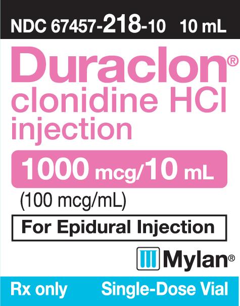 DURACLON®* (clonidine hydrochloride injection) (Duraclon